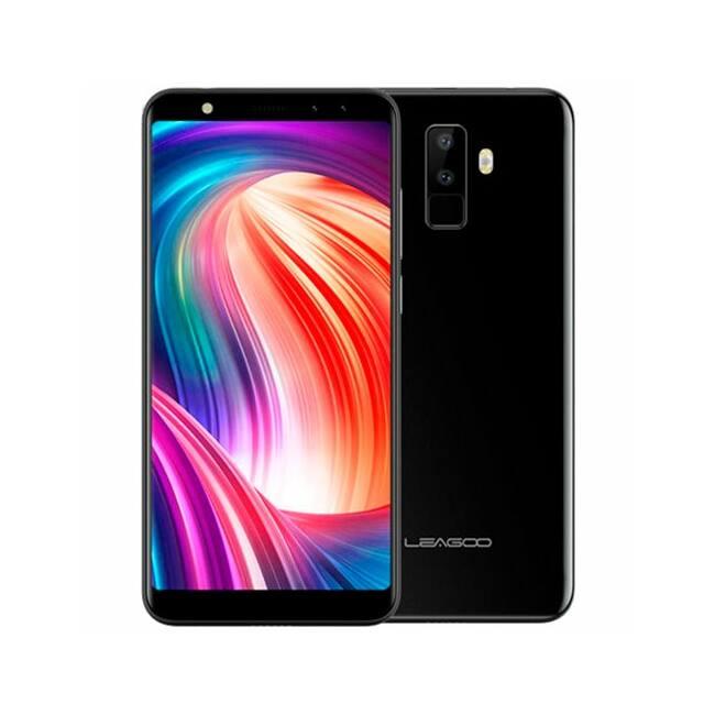 LEAGOO M9 3G, 5.5'' HD- IPS,MT6580A quad core, quad CAM rear: 8MP+2MP, front: 5MP+2MP, 2GB+16GB, 2850mAh battery, Android 7.0, black