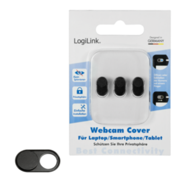 LOGILINK - Webcam cover for laptop, smartphone und tablet PCs