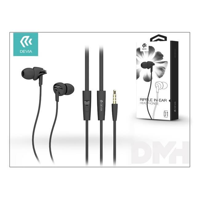 Devia ST986933 Ripple fekete mikrofonos fülhallgató