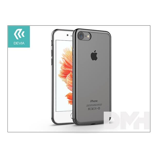 Devia ST992637 GLITTER SOFT iPhone 7 fegyver fekete hátlap