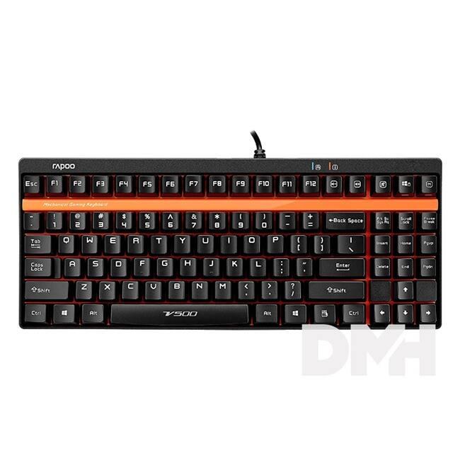 """Rapoo 158322 """"VPRO V500"""" USB fekete HUN mechanikus Gamer billentyűzet"""