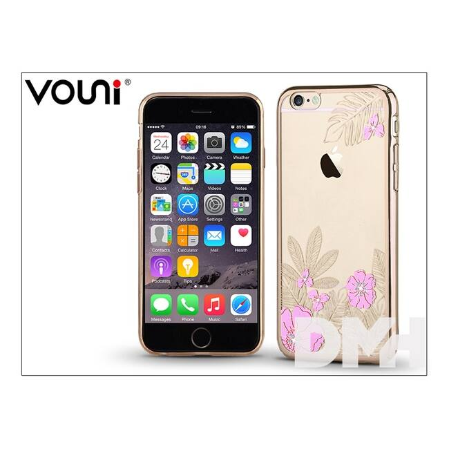 Vouni ST977177 CRYSTAL GORGEOUS iPhone 6+/6S+ pezsgőarany hátlap