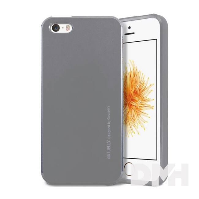 Mercury IJELLYIP5 iJelly iPhone SE ezüst TPU hátlap