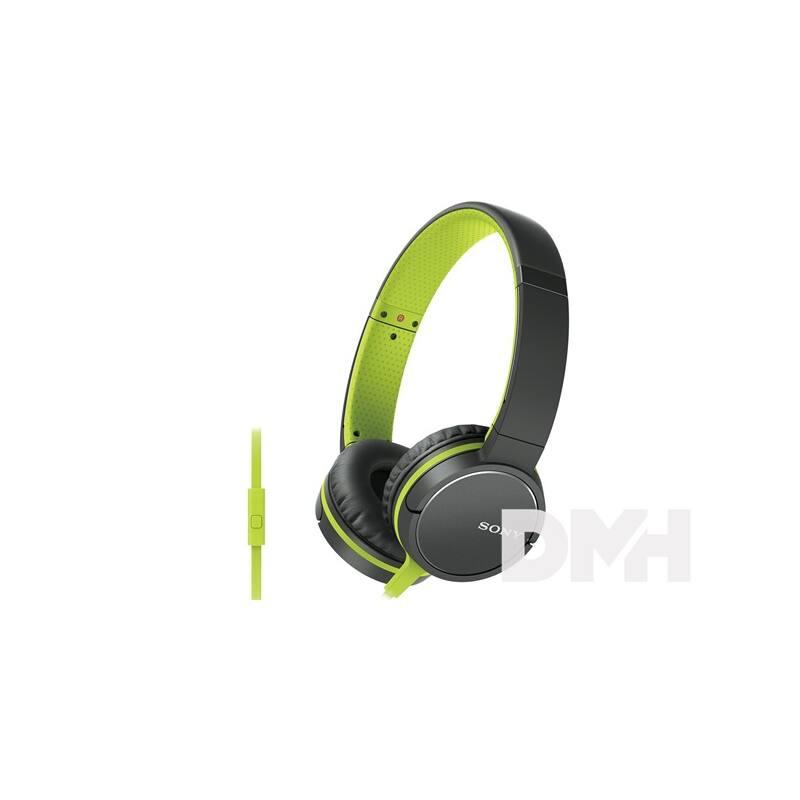 Sony MDRZX660APG.CE7  zöld mikrofonos fejhallgató
