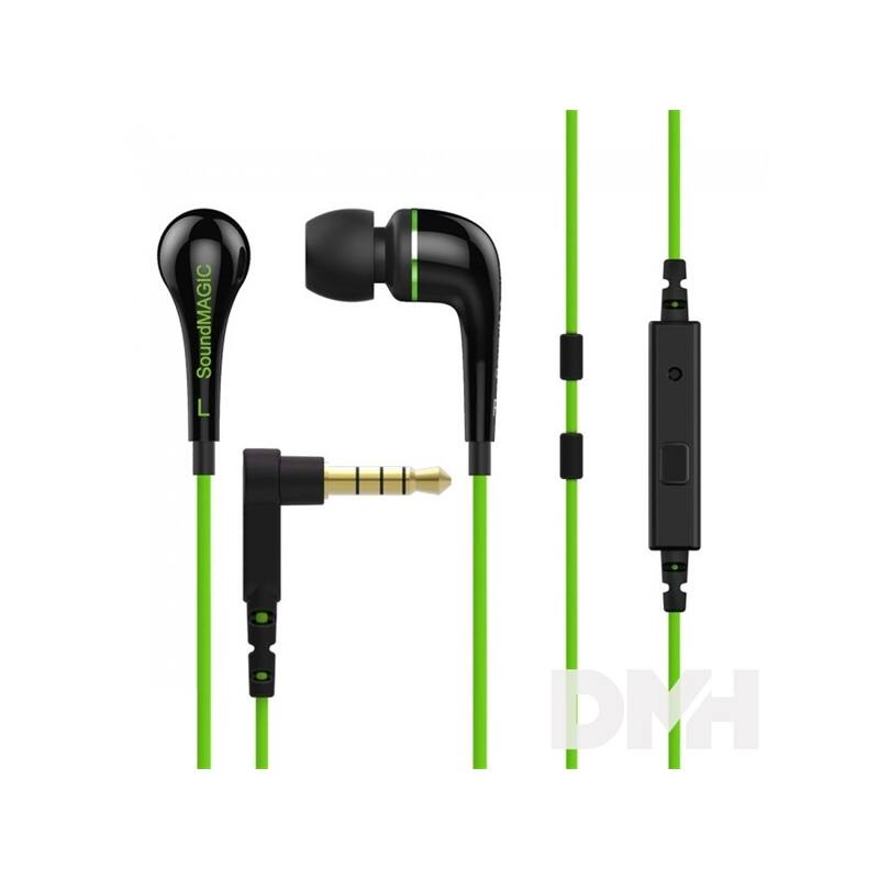 SoundMAGIC ES11S In-Ear zöld fülhallgató headset