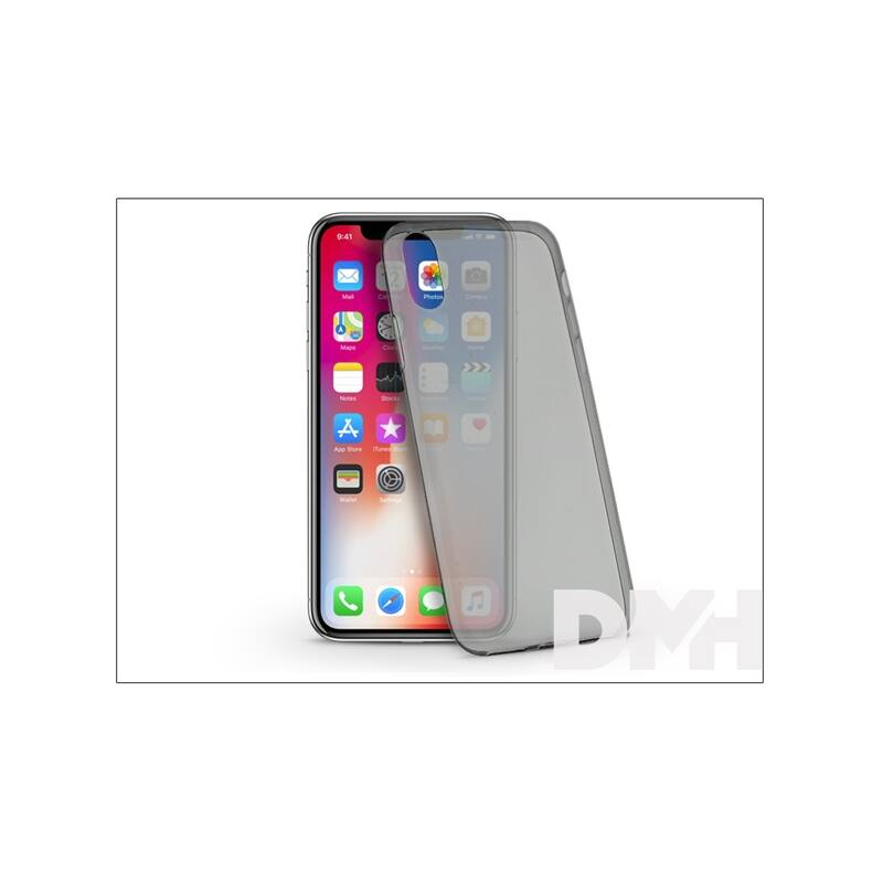 Haffner PT-4226 iPhone X ultra vékony 0.3 fekete szilikon hátlap