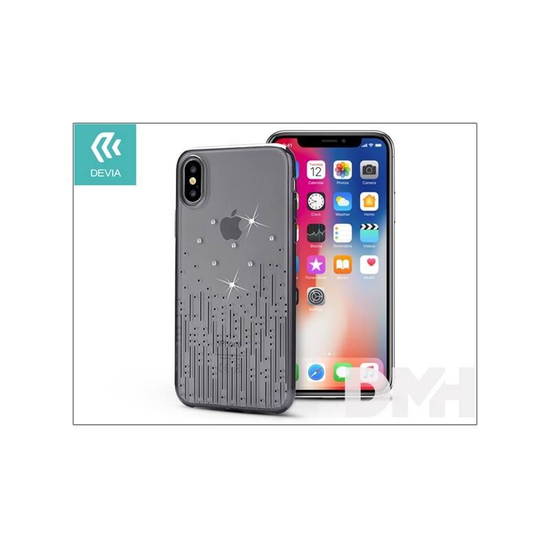 Devia ST305566 Crystal METEOR iPhone X fekete hátlap