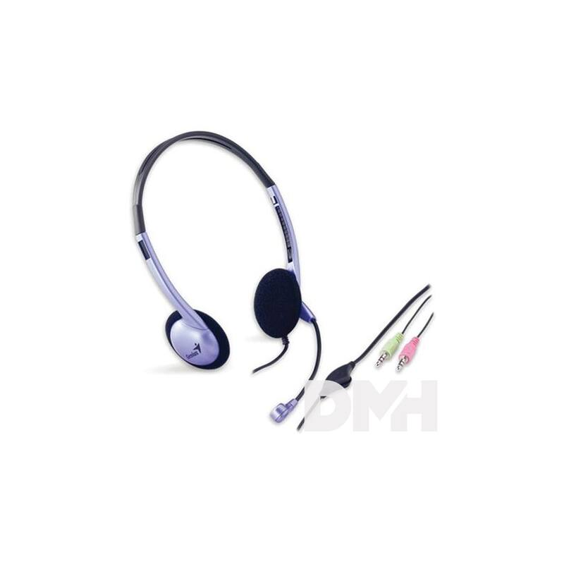Genius HS-02B jack fekete-lila headset