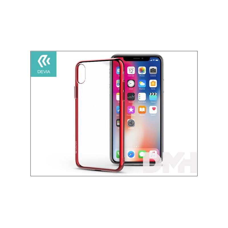 Devia ST306051 GLITTER SOFT iPhone X piros hátlap