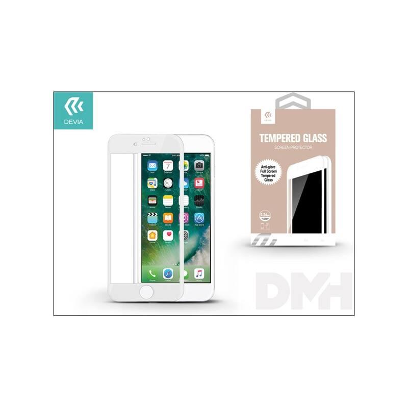 Devia ST993443 iPhone 7+ fehér üveg képernyő + Crystal hátlapvédő fólia