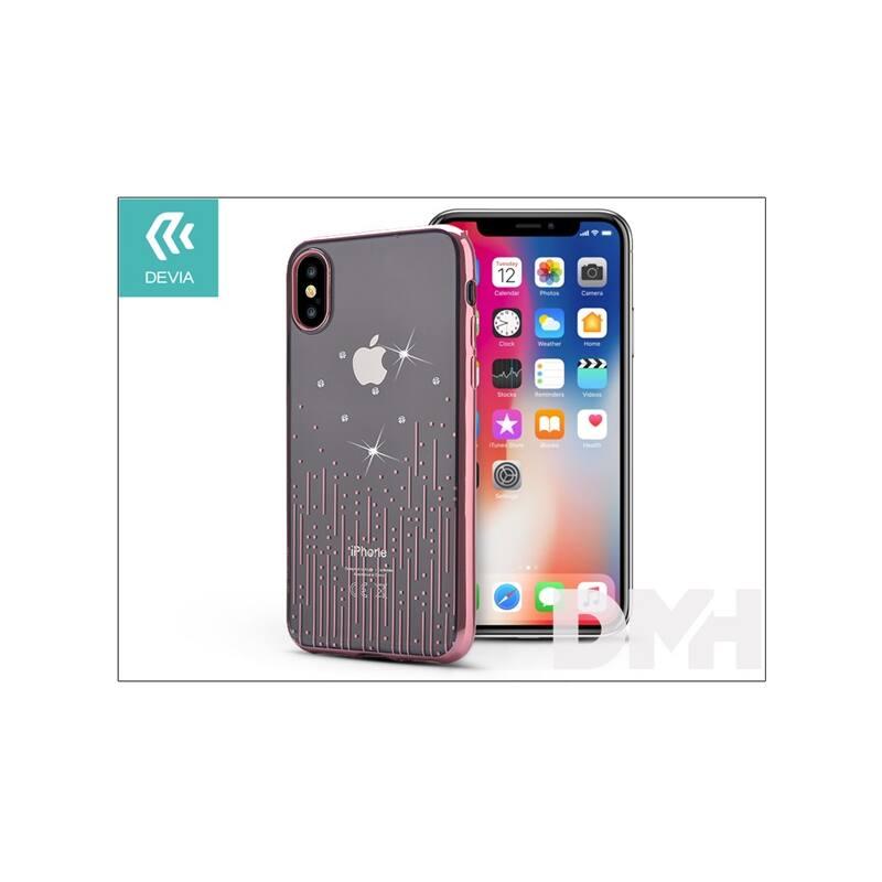 Devia ST305597 Crystal METEOR iPhone X rózsaarany hátlap