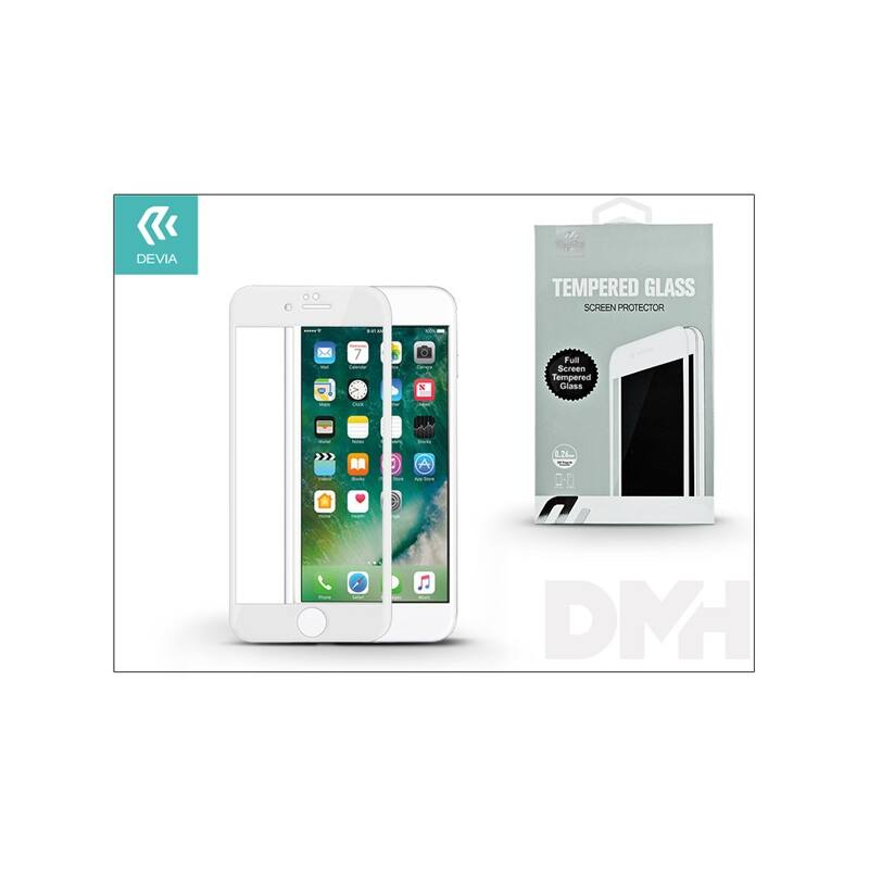 Devia ST992507 iPhone 7+ fehér üveg képernyő + Crystal hátlapvédő fólia