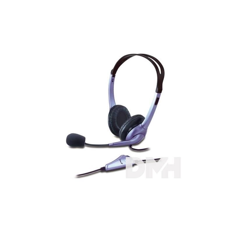 Genius HS-04S jack fekete headset