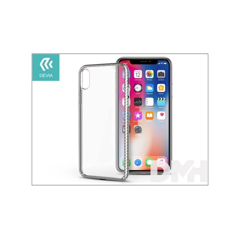 Devia ST300929 LUXURIOUS iPhone X ezüst hátlap