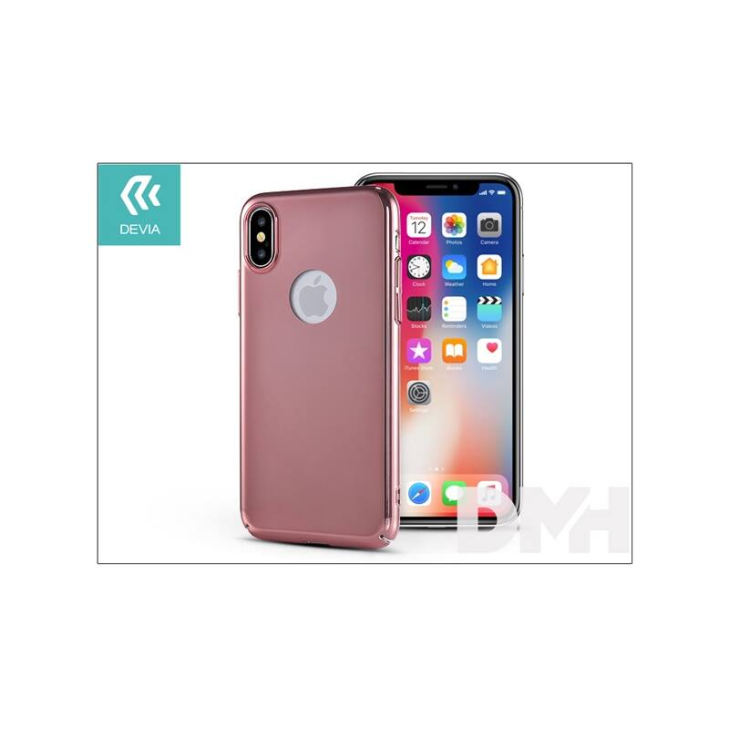 Devia ST307911 MIRROR iPhone X rózsaarany hátlap
