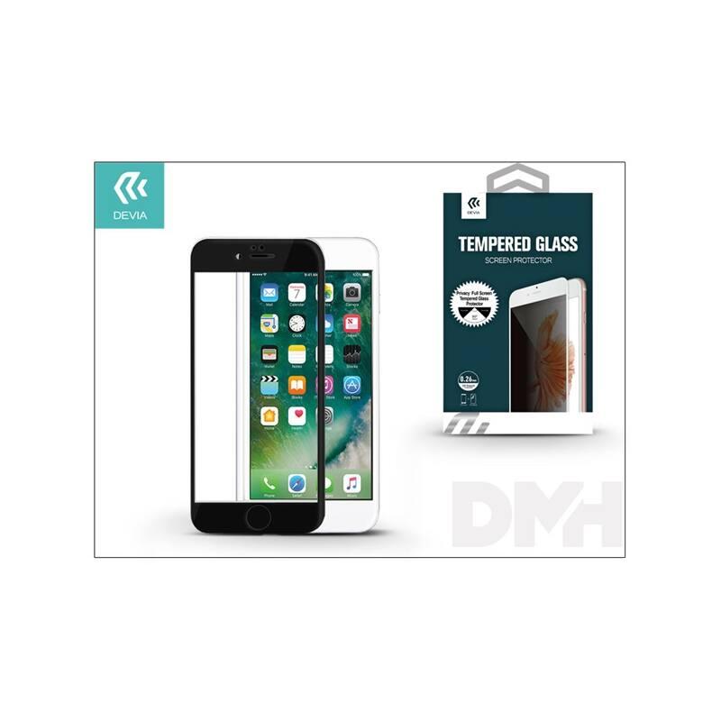 Devia ST993450 iPhone 7 fekete üveg fólia + Crystal hátlapvédő fólia