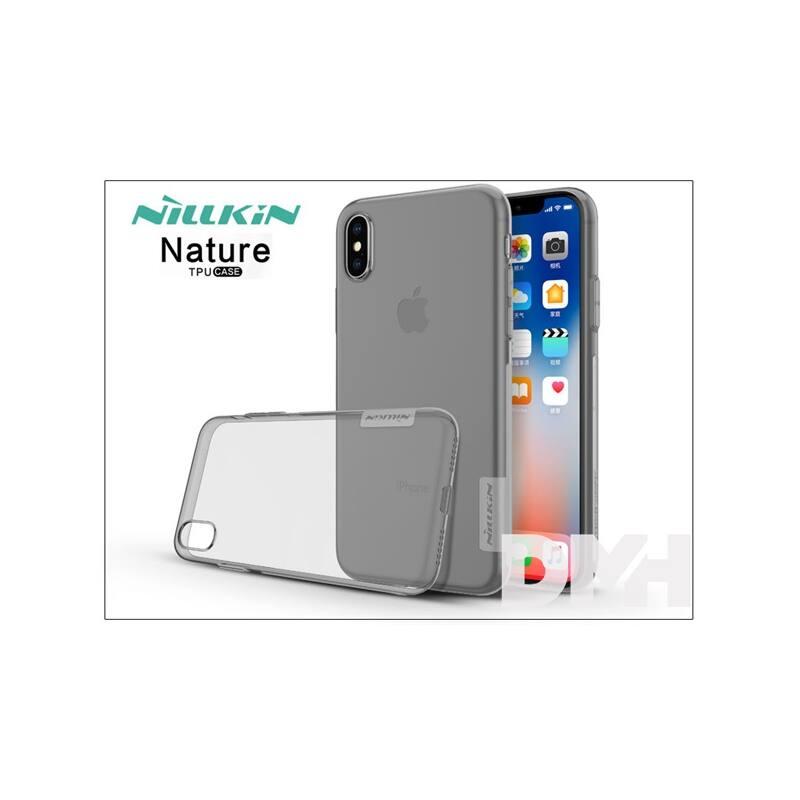Nillkin NL146532 NATURE iPhone X szürke szilikon hátlap