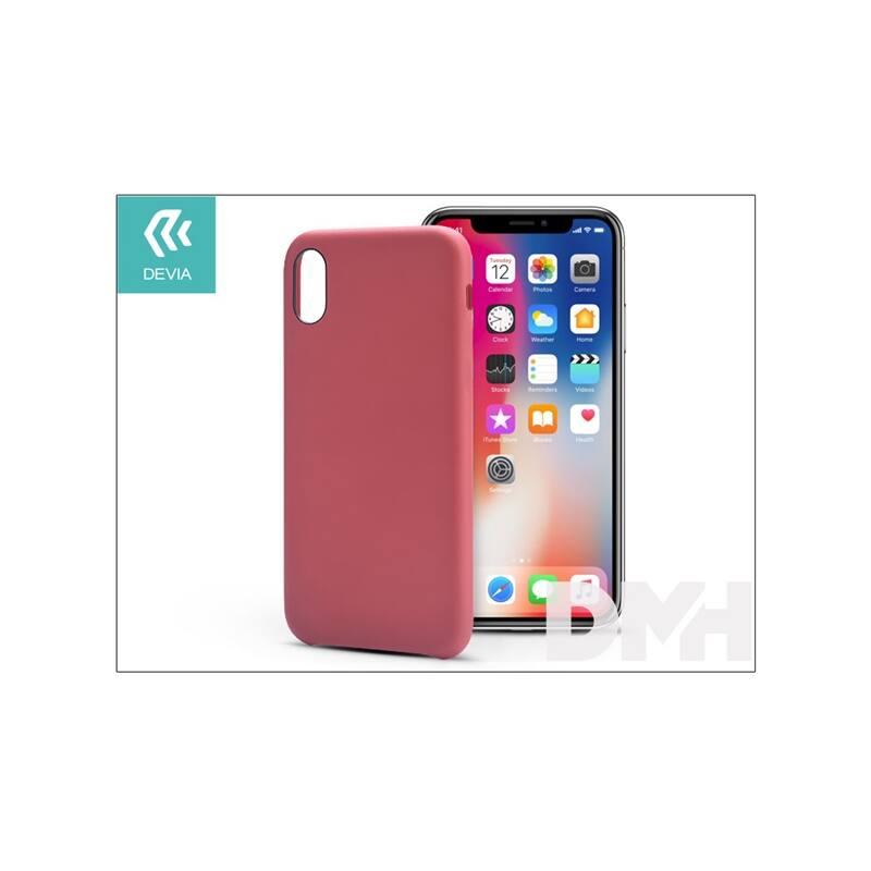 Devia ST305436 NATURE iPhone X piros hátlap