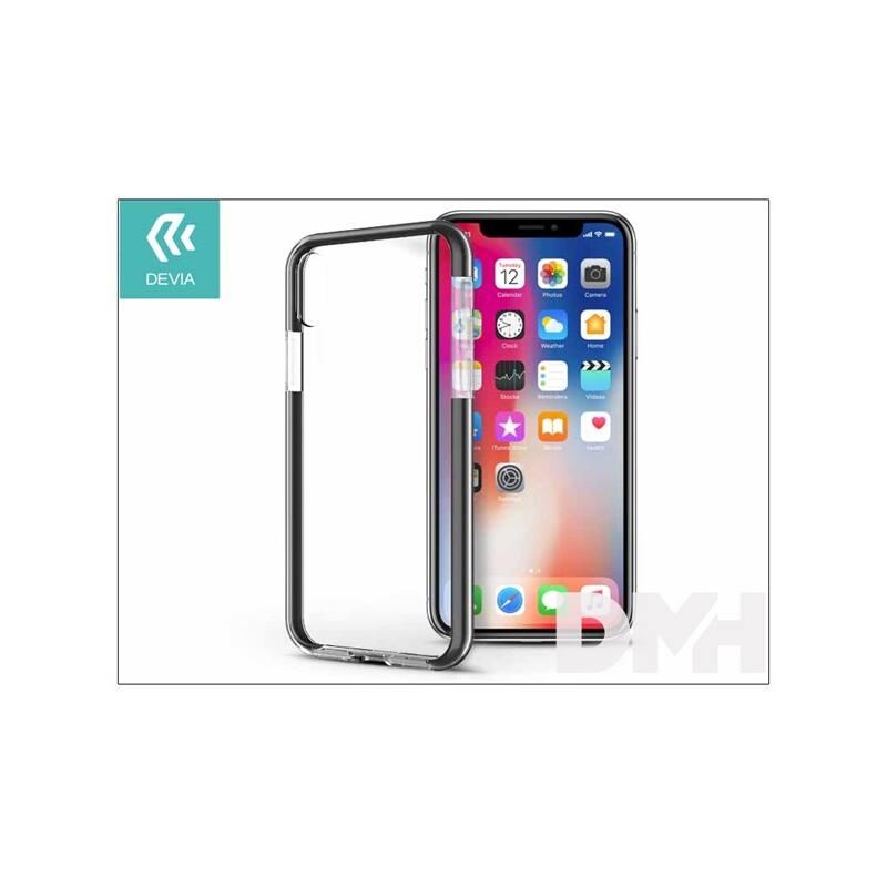 Devia ST307928 FASHION SHOCKPROOF iPhone X fekete hátlap