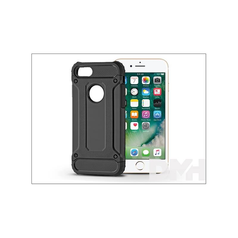 Haffner PT-4123 iPhone 7/8 fekete ütésálló hátlap