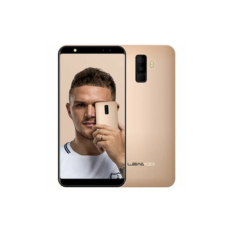 LEAGOO M9 3G, 5.5'' HD- IPS,MT6580A quad core, quad CAM rear: 8MP+2MP, front: 5MP+2MP, 2GB+16GB, 2850mAh battery, Android 7.0, gold