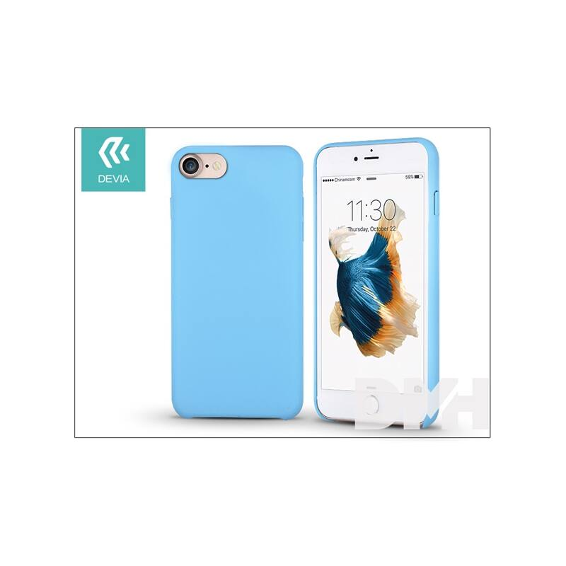 Devia ST995744 SUCCESSOR iPhone 7 kék szilikon hátlap