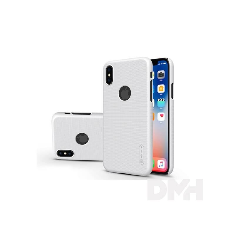Nillkin NL147331 FROSTED Logo iPhone X fehér hátlap képernyővédő fóliával