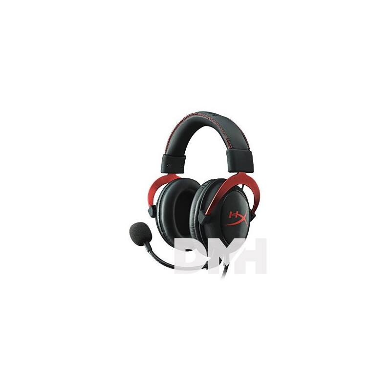 Kingston HyperX Cloud II Fekete-Vörös 3,5 Jack, USB gamer headset