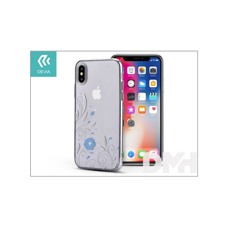 Devia ST305535 Crystal PETUNIA iPhone X ezüst hátlap