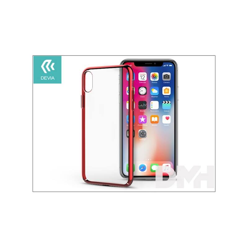 Devia ST305818 GLIMMER iPhone X piros hátlap