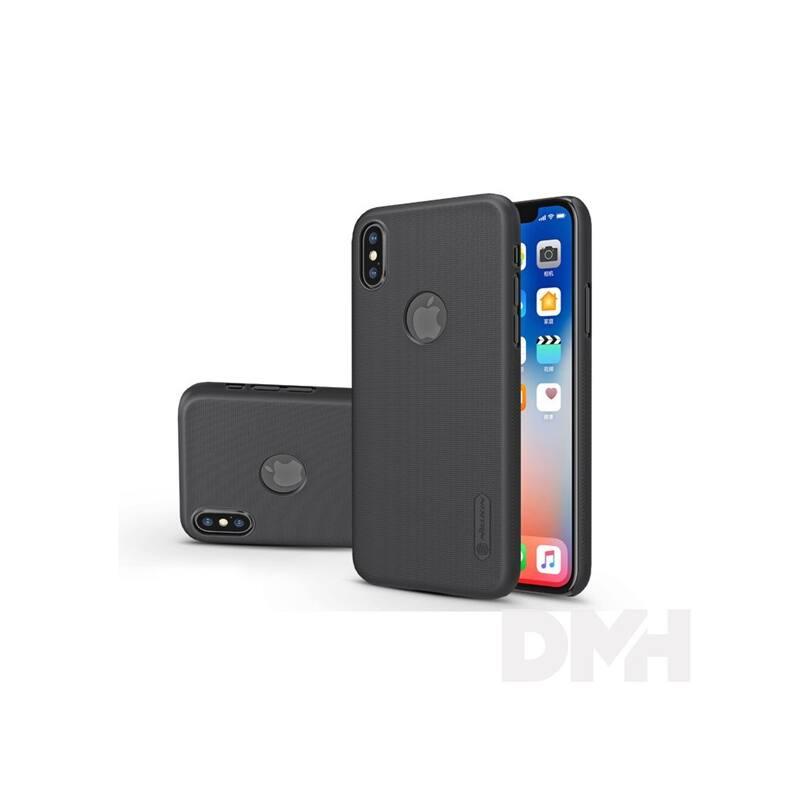 Nillkin NL147324 FROSTED Logo iPhone X fekete hátlap képernyővédő fóliával